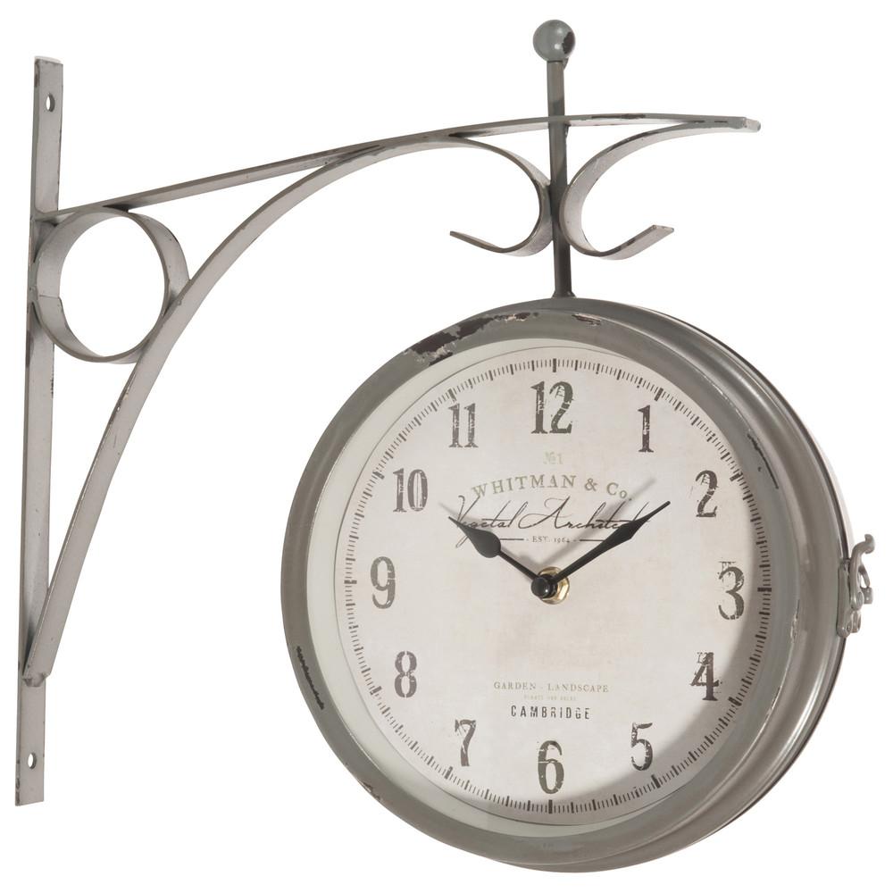 Horloge Applique En M Tal D 34 Cm Garden Maisons Du Monde