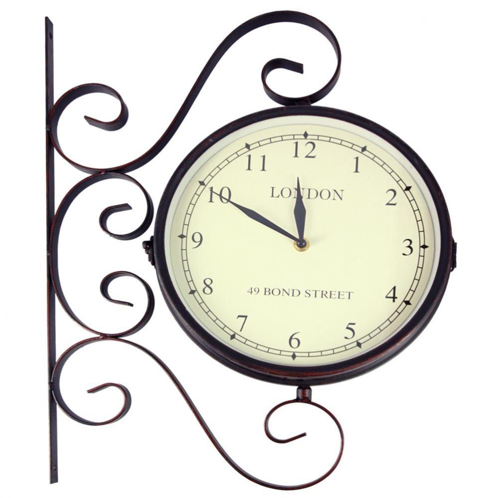 Horloge Applique En M Tal Noire D 39 Cm Bond Street Maisons Du Monde