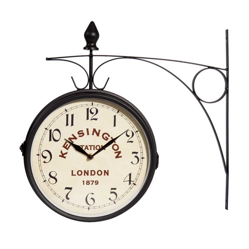 Horloge applique en m tal noire d 42 cm kensington for Applique maison du monde