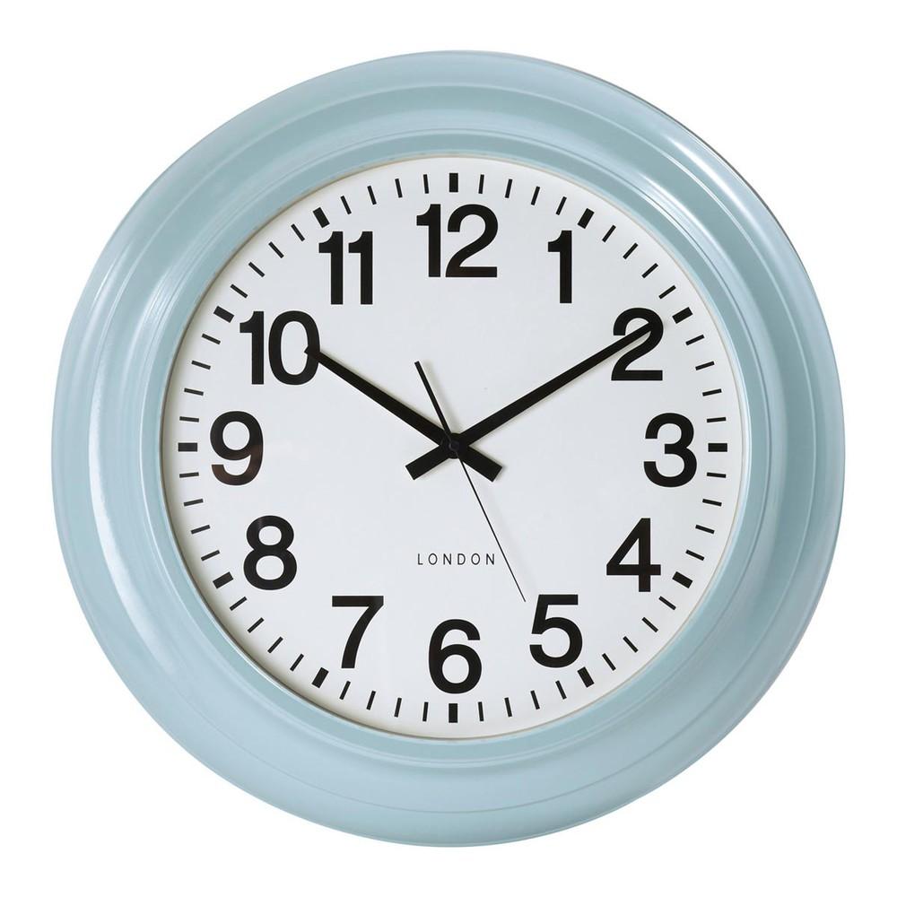 Horloge bleue paterson maisons du monde - Horloge a poser maison du monde ...