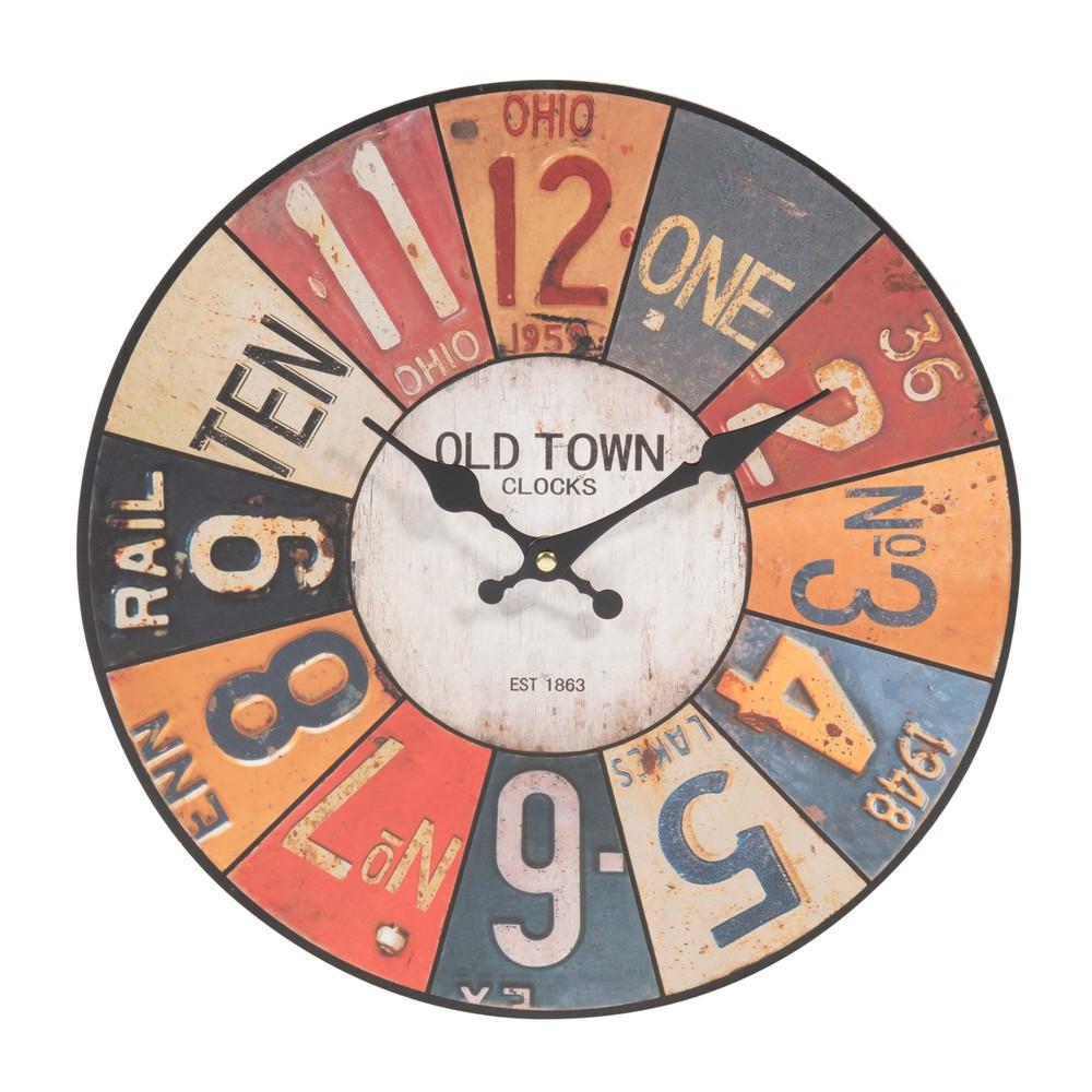 Horloge d 34 cm usa maisons du monde - Horloge a poser maison du monde ...