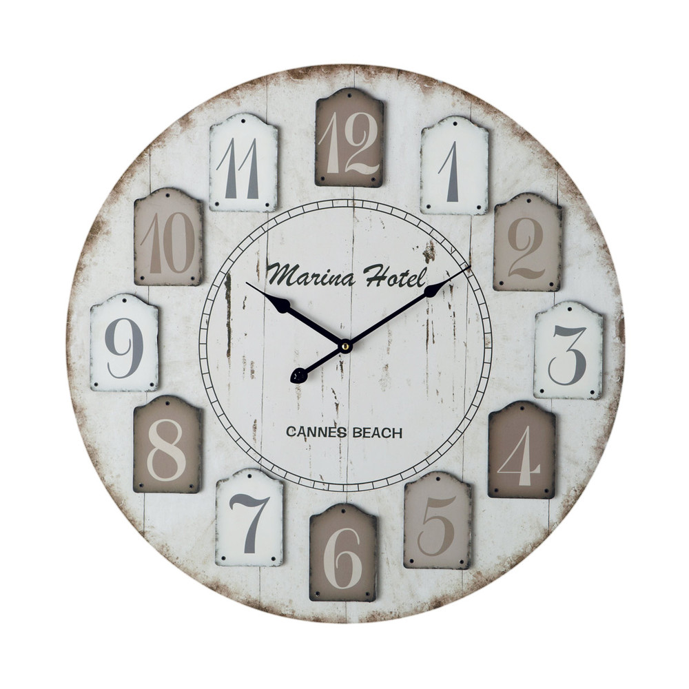 horloge d 60 cm h tel marina maisons du monde. Black Bedroom Furniture Sets. Home Design Ideas