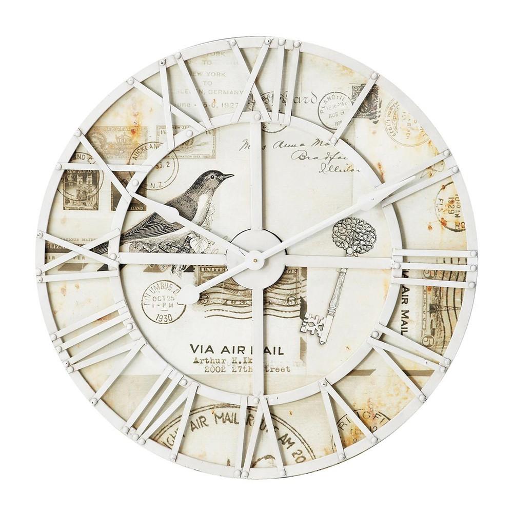 Horloge eglantine maisons du monde - Horloge a poser maison du monde ...