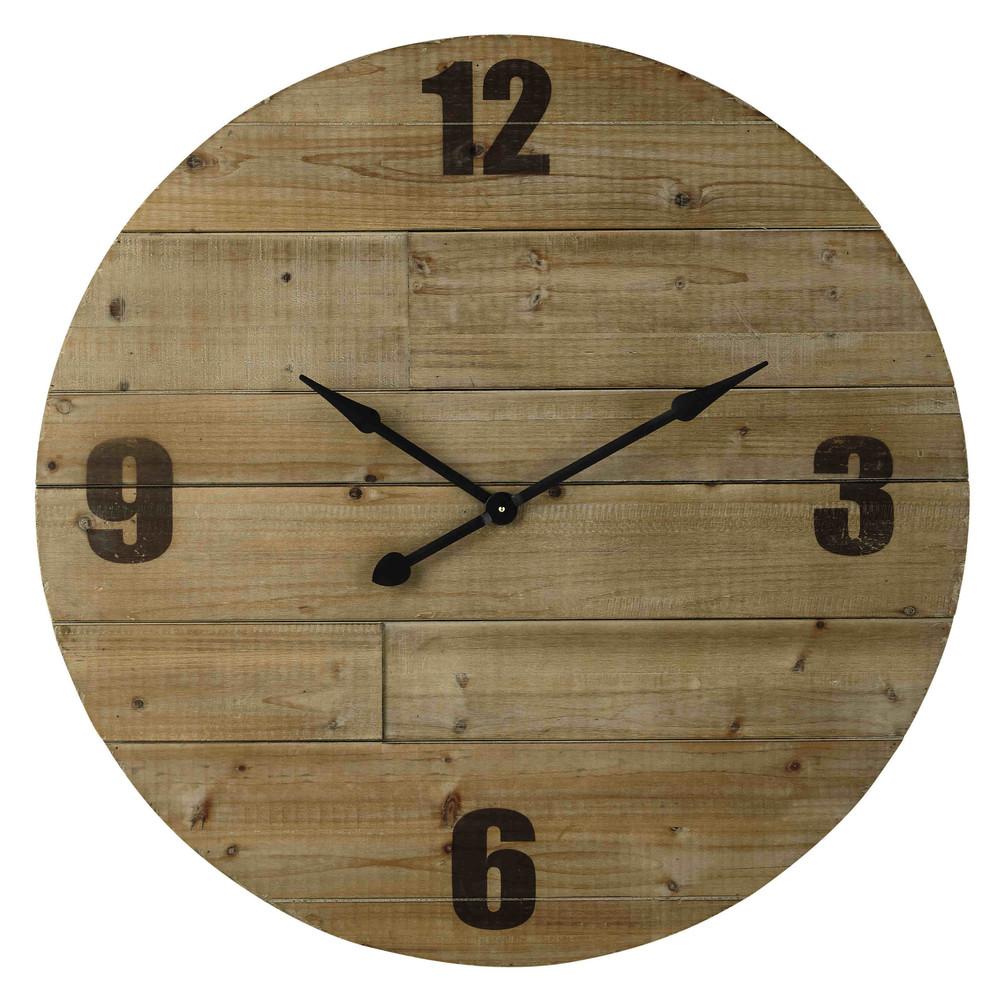 horloge en bois d 100 cm nordmann maisons du monde. Black Bedroom Furniture Sets. Home Design Ideas