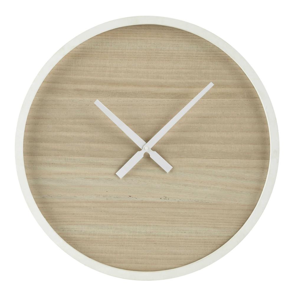 Horloge en bois d 60 cm oslo maisons du monde - Horloges maison du monde ...