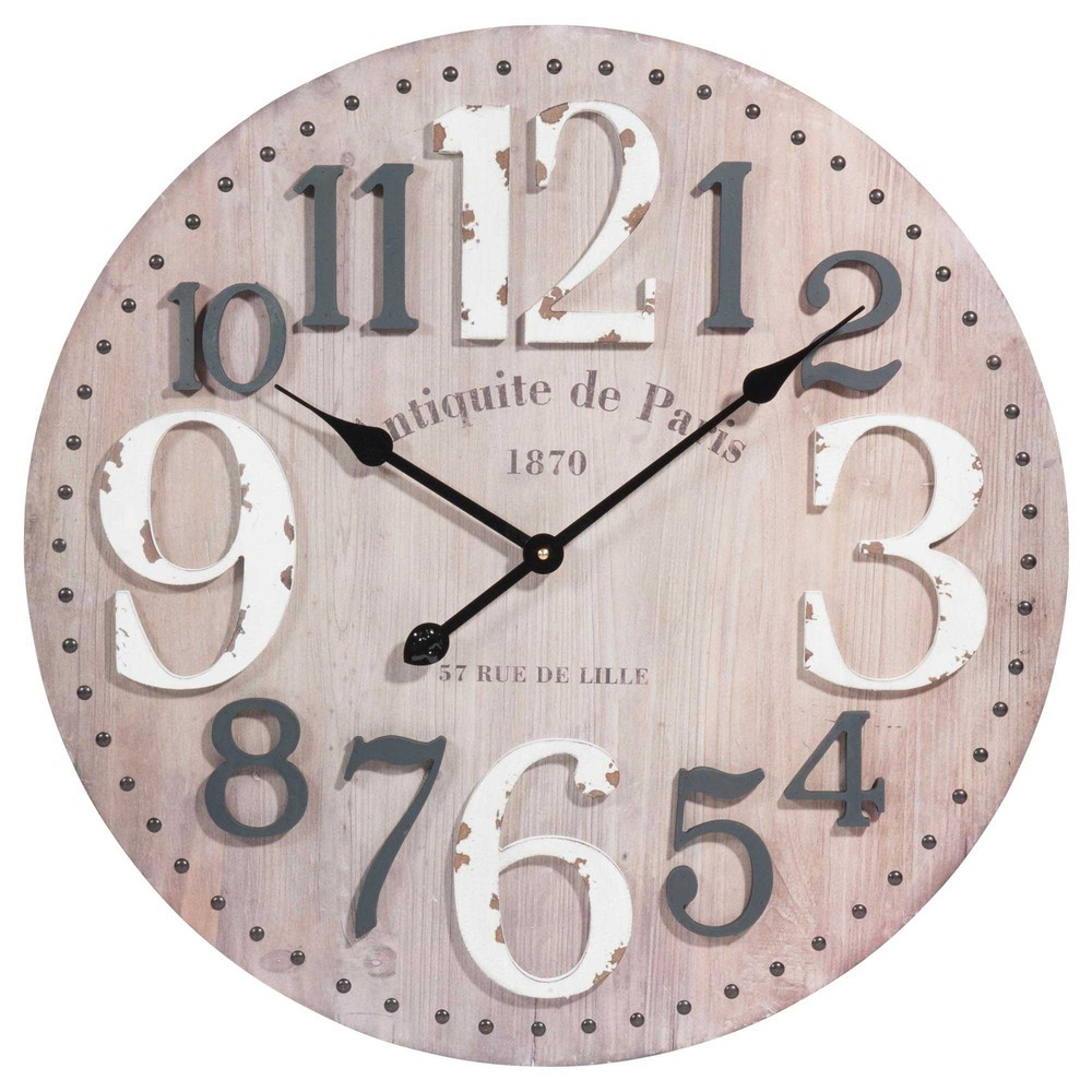 horloge en bois d 61 cm kaliska maisons du monde. Black Bedroom Furniture Sets. Home Design Ideas