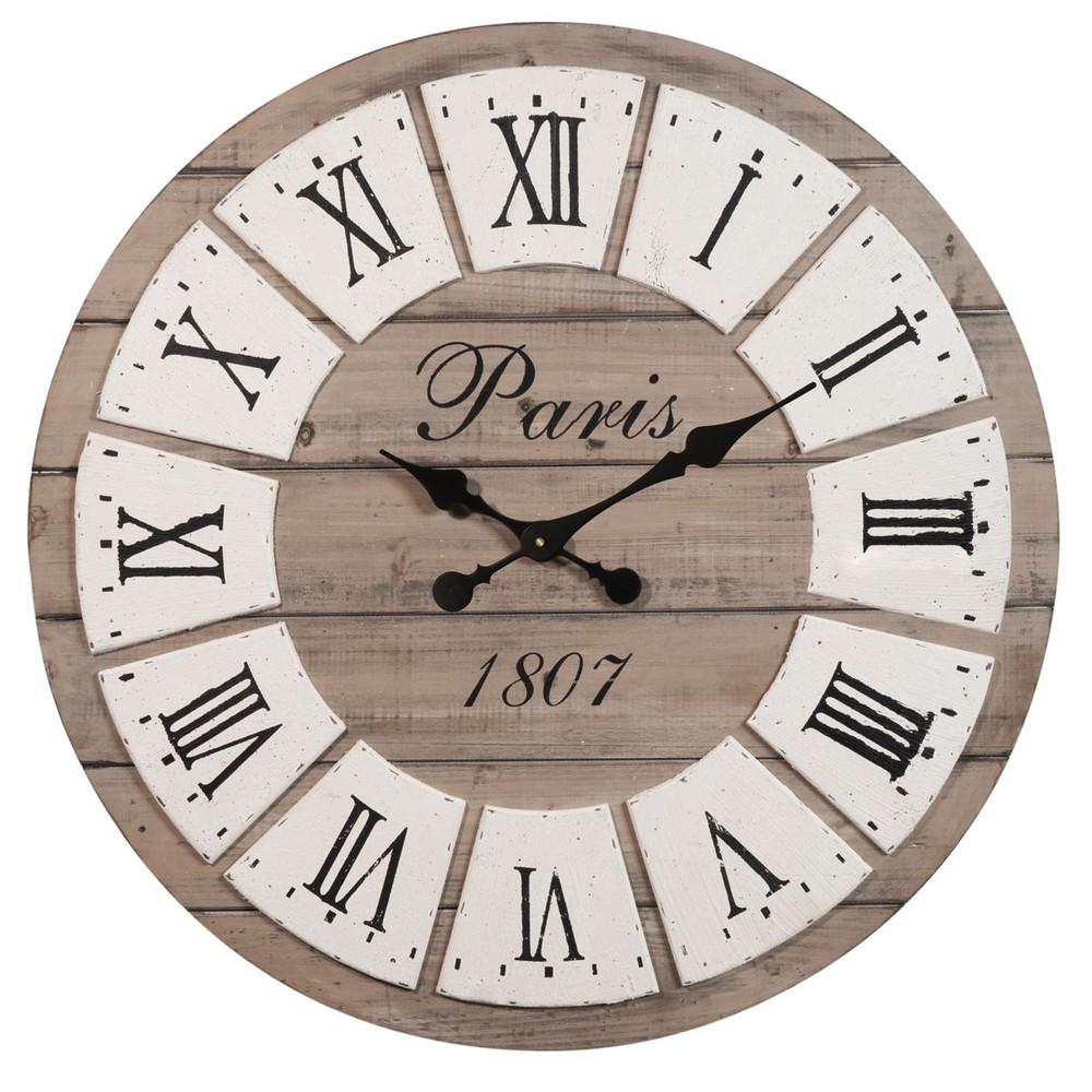 Horloge en bois d 65 cm honor maisons du monde - Horloge a poser maison du monde ...
