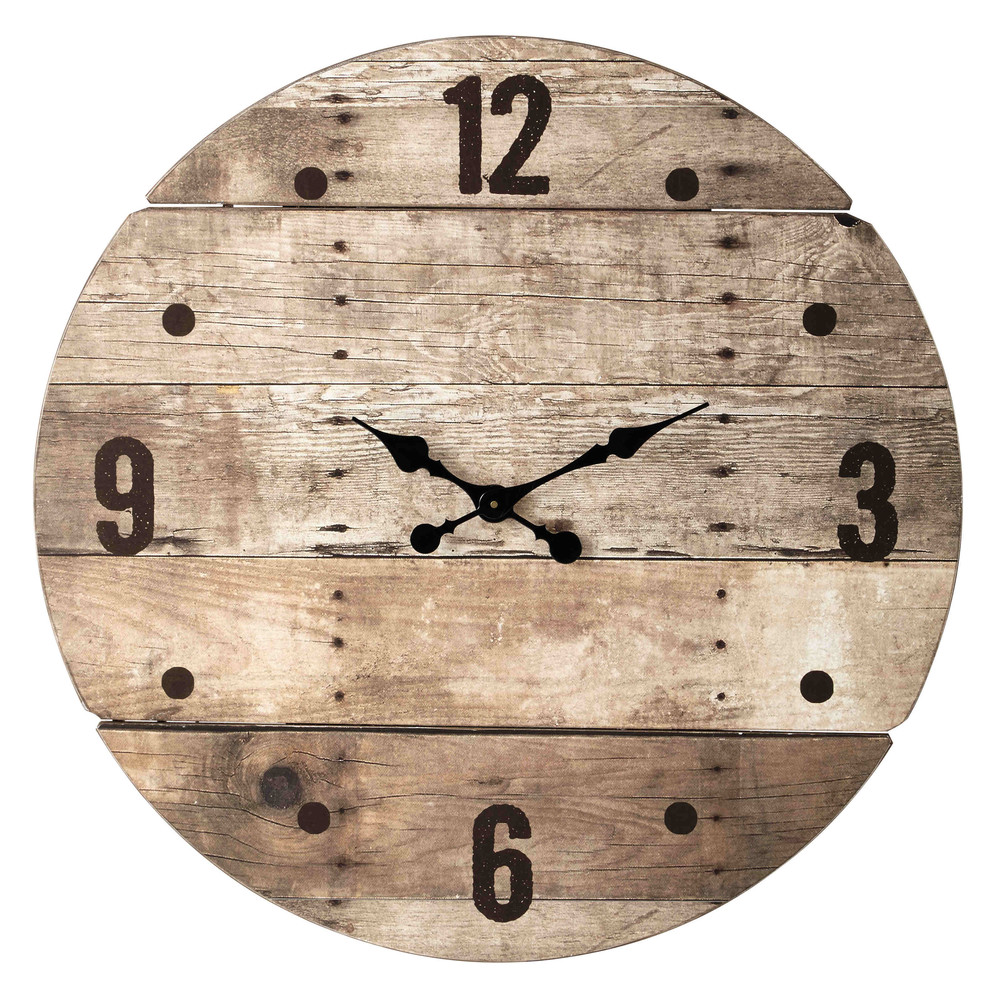 horloge en bois d 82 cm c vennes maisons du monde. Black Bedroom Furniture Sets. Home Design Ideas
