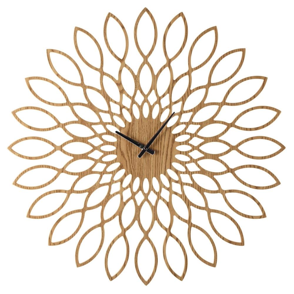 Horloge en bois D 88 cm SANAE  Maisons du Monde ~ Vieille Horloge En Bois