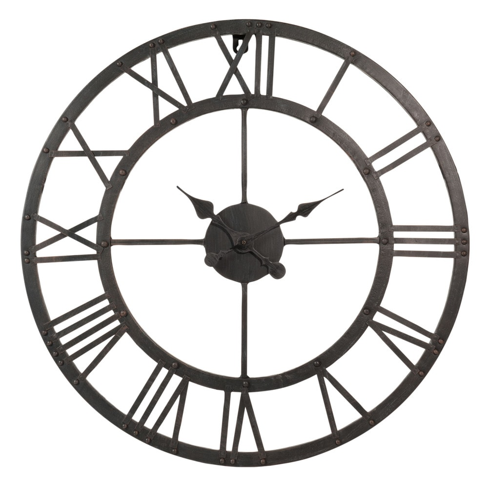 horloge en m tal d 60 cm edison maisons du monde. Black Bedroom Furniture Sets. Home Design Ideas