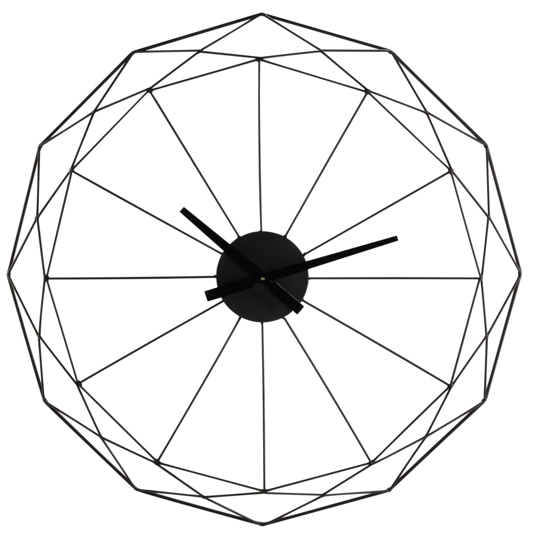 3f6ffec3f36629 Horloge en métal noir Origami   Maisons du Monde