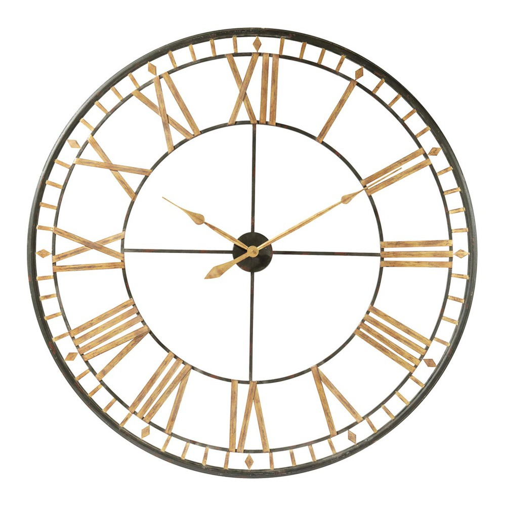 horloge en m tal noire d 120 cm la valli re maisons du monde. Black Bedroom Furniture Sets. Home Design Ideas