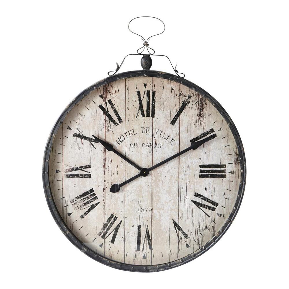Horloge en m tal victoria maisons du monde - Horloge a poser maison du monde ...