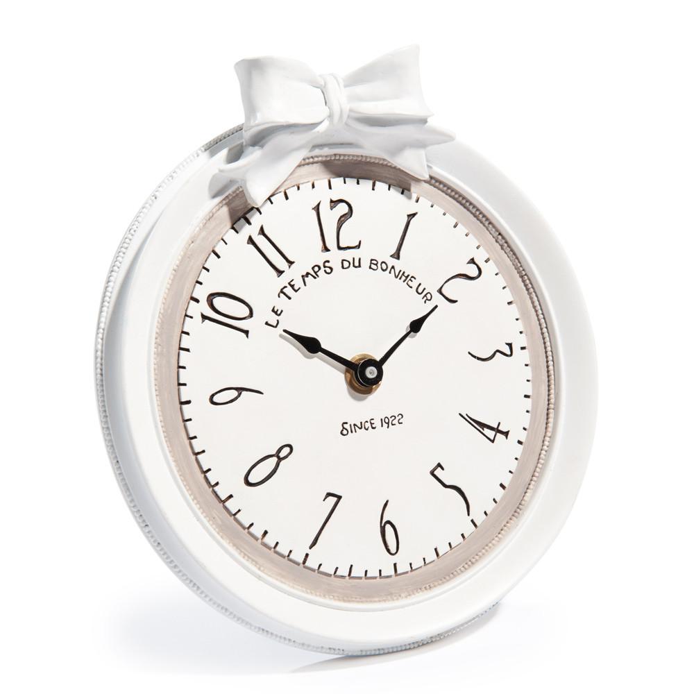Horloge en r sine blanche d 17 cm doriane maisons du monde - Horloges maison du monde ...