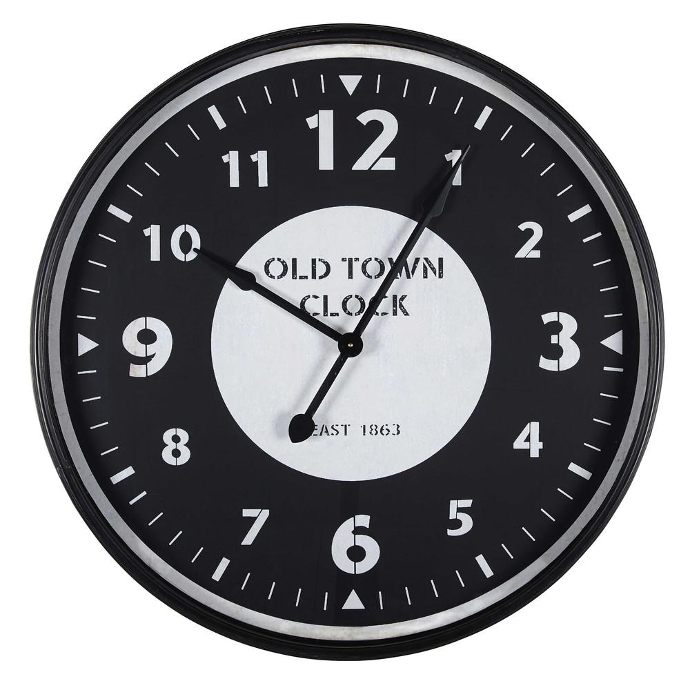 Horloge en verre et m tal spencer maisons du monde for Orologi maison du monde