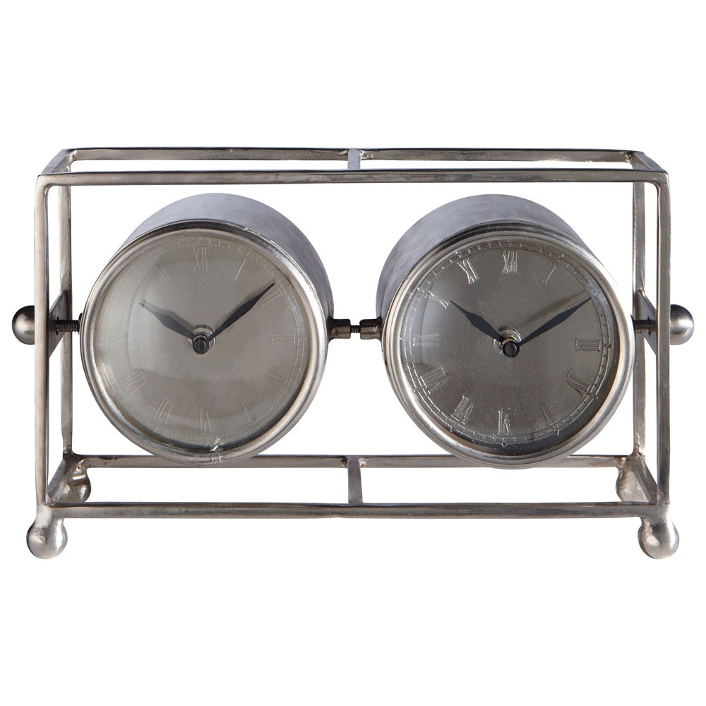 Horloge franklin poser double maisons du monde - Horloge a poser maison du monde ...