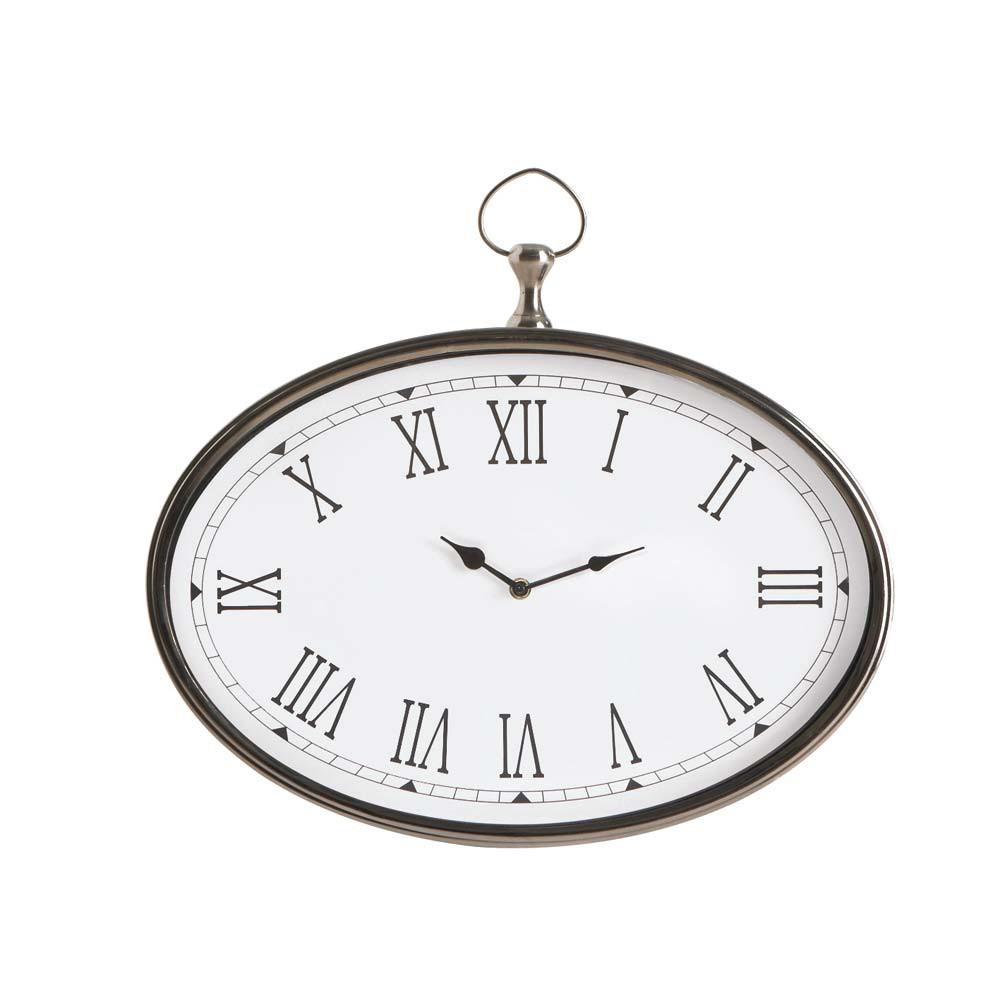 Horloge gousset en m tal chrom l 38 cm maisons du monde - Horloge gousset murale ...