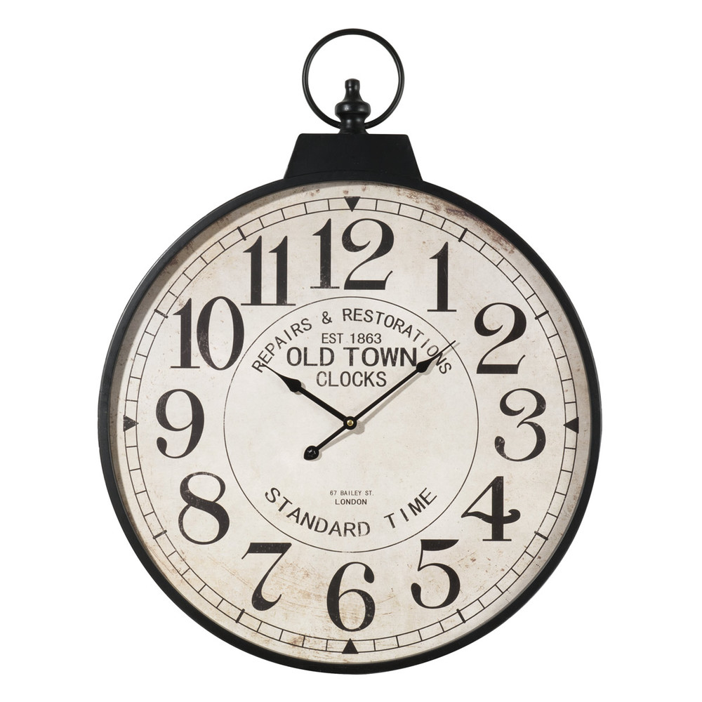 horloge gousset en m tal d 60 cm vintage maisons du monde. Black Bedroom Furniture Sets. Home Design Ideas