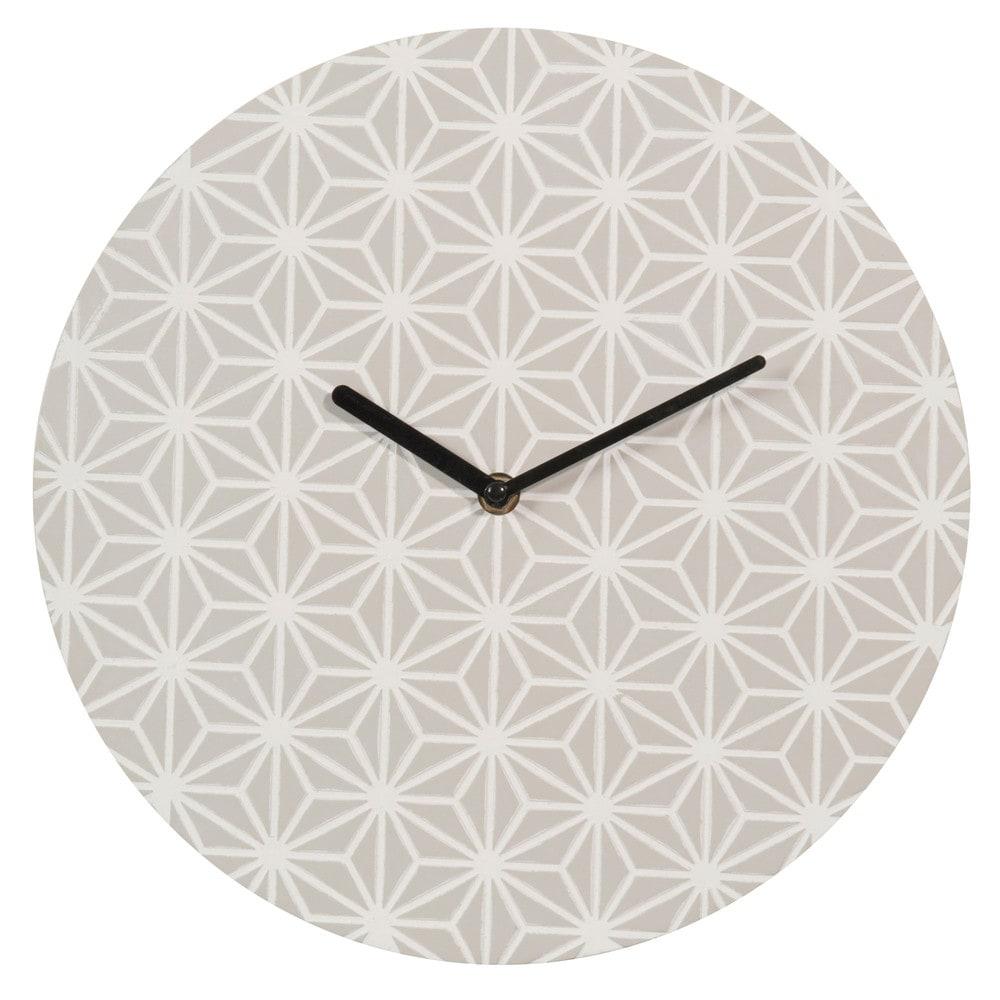 horloge grise d 30 cm ivy maisons du monde. Black Bedroom Furniture Sets. Home Design Ideas