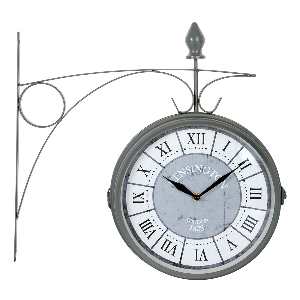 Horloge kensington grise maisons du monde for Horloge grise