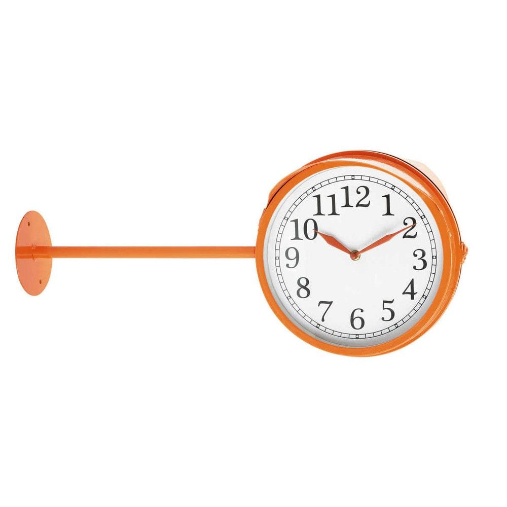 horloge murale orange poppy maisons du monde horloge murale maison du monde with horloge murale. Black Bedroom Furniture Sets. Home Design Ideas