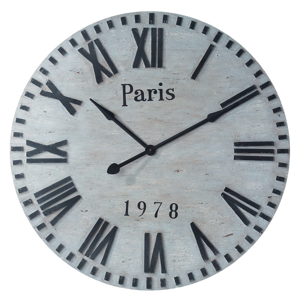 horloge paris 1970 maisons du monde. Black Bedroom Furniture Sets. Home Design Ideas