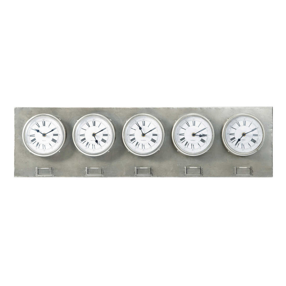 Horloges m tal chrome greenford maisons du monde - Horloge a poser maison du monde ...