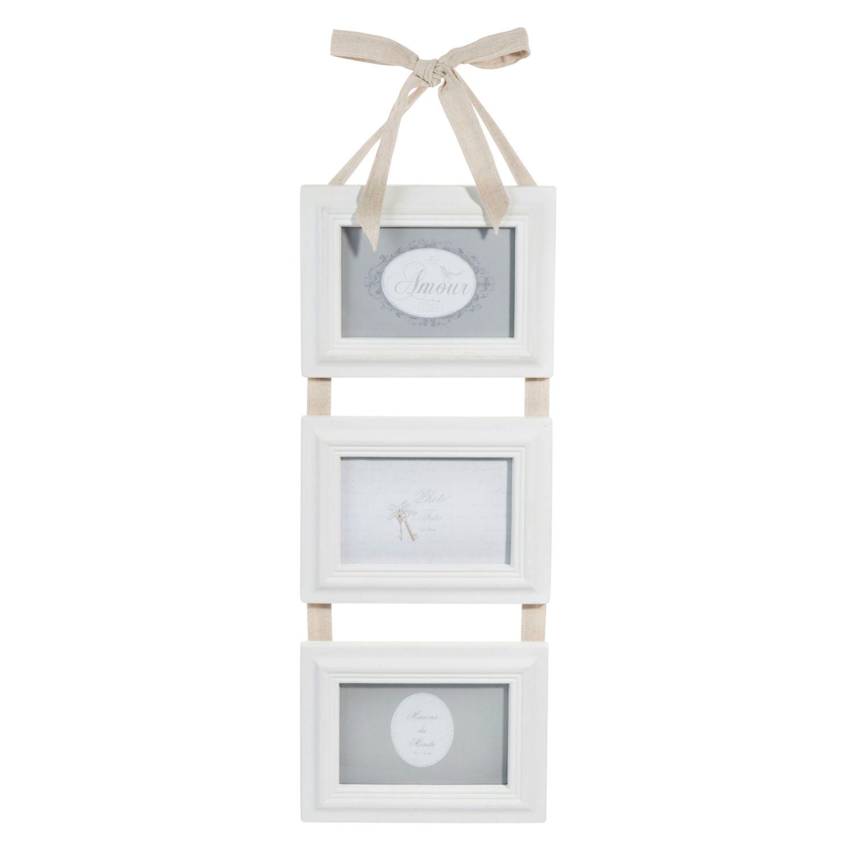 triple photo frame in white, 10x15 cm Hortense | Maisons du Monde