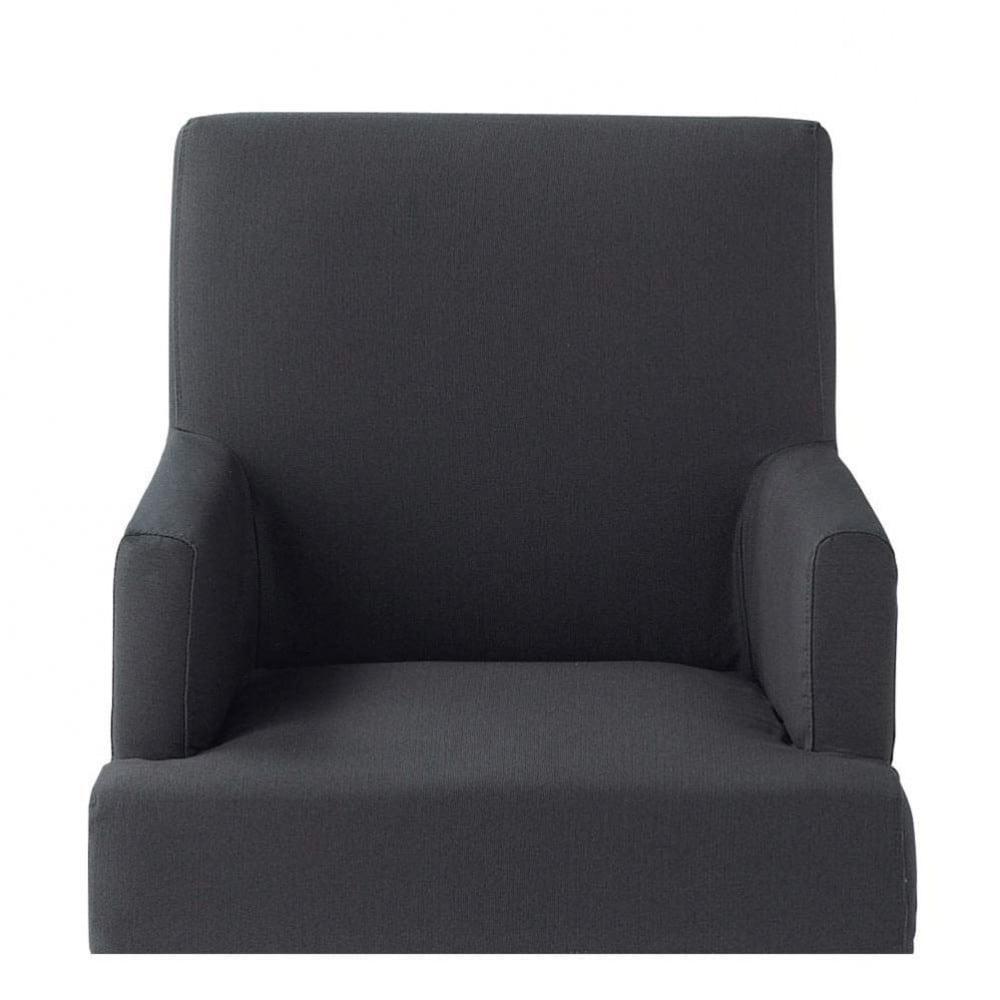 housse ardoise fauteuil lounge maisons du monde. Black Bedroom Furniture Sets. Home Design Ideas