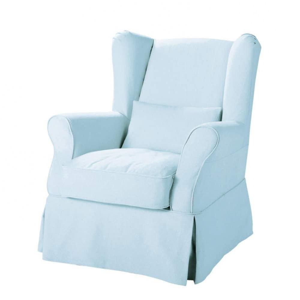 housse bleu ciel cottage maisons du monde. Black Bedroom Furniture Sets. Home Design Ideas