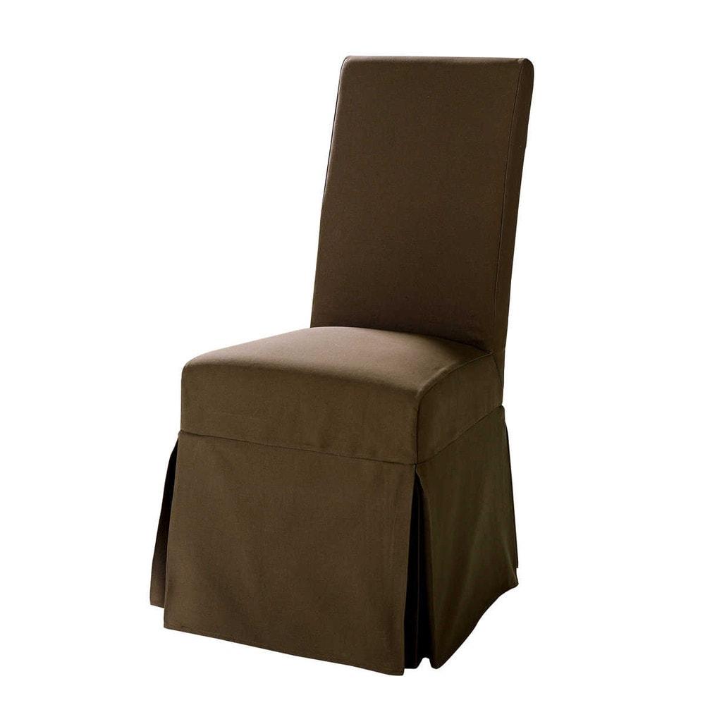 Housse chocolat margaux maisons du monde - Housse chaise maison du monde ...
