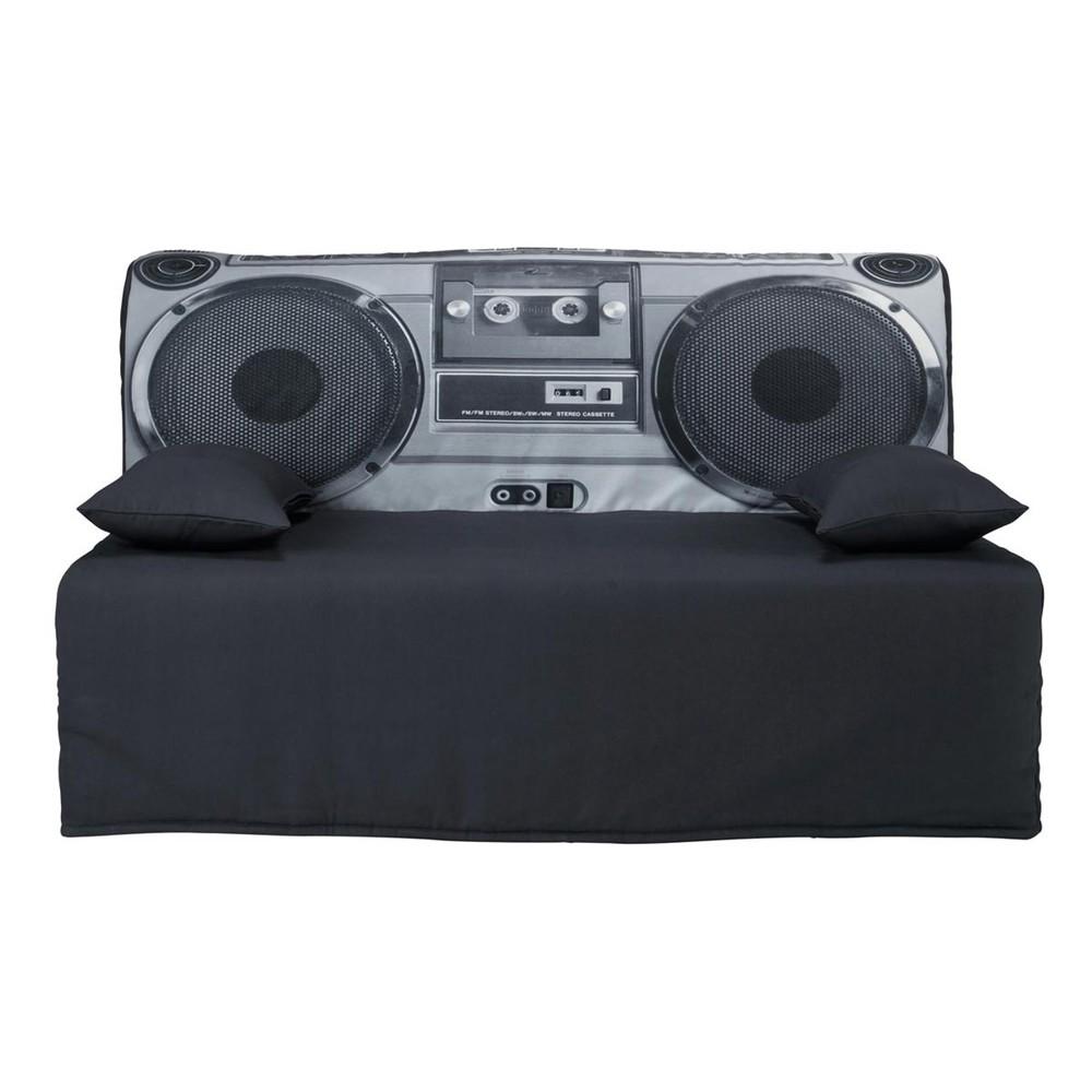 housse de canap bz en coton grise elliot maisons du monde. Black Bedroom Furniture Sets. Home Design Ideas