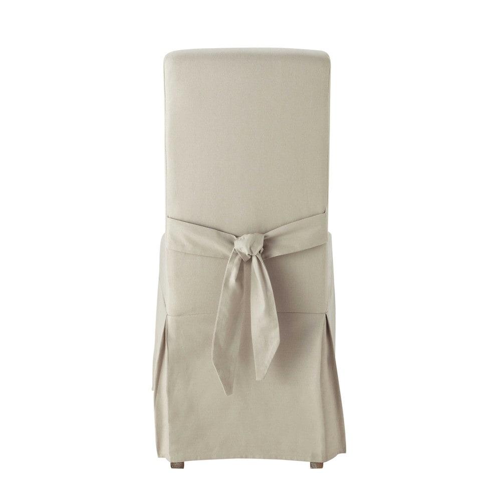 housse de chaise avec n ud en coton mastic margaux maisons du monde. Black Bedroom Furniture Sets. Home Design Ideas