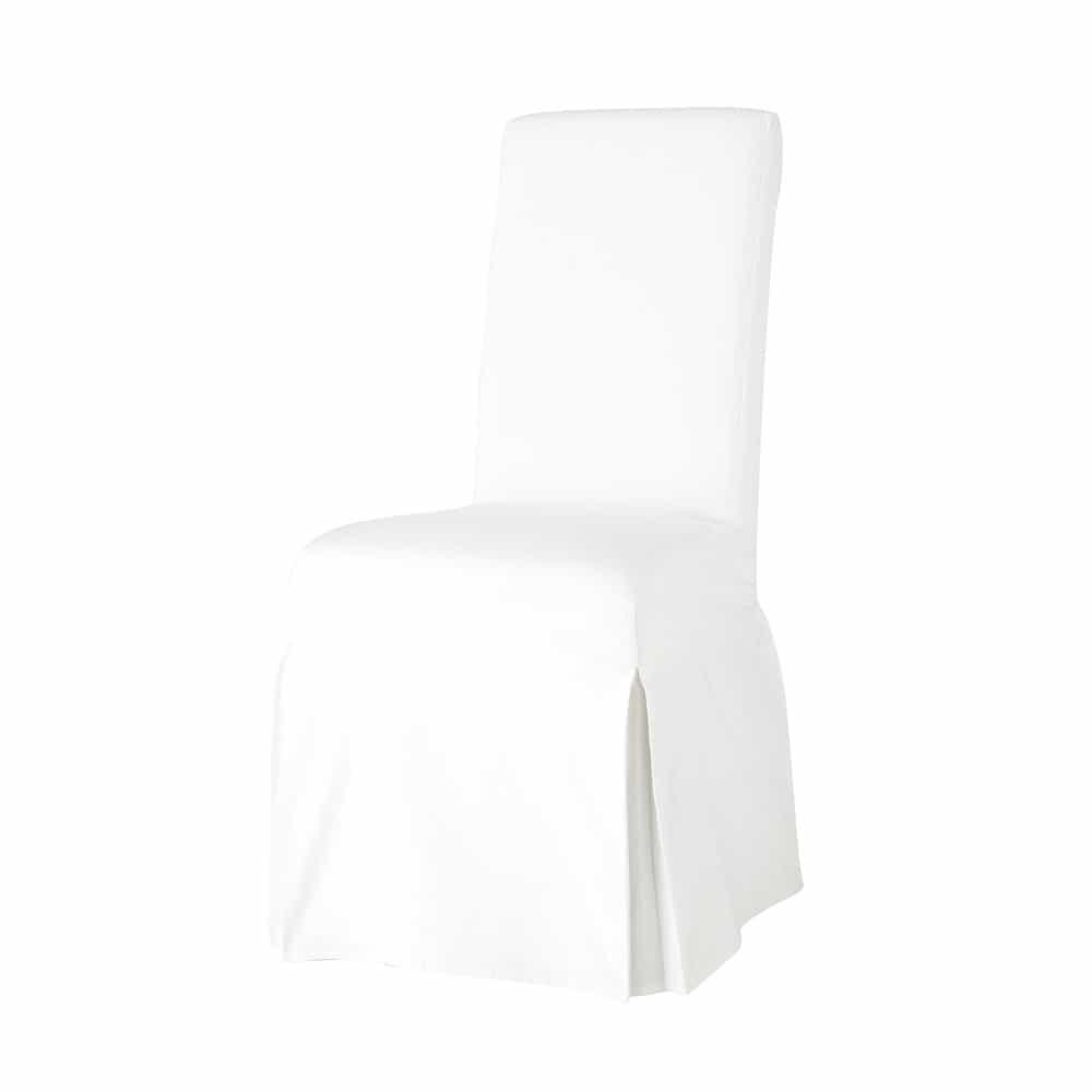 housse de chaise en coton ivoire margaux maisons du monde. Black Bedroom Furniture Sets. Home Design Ideas