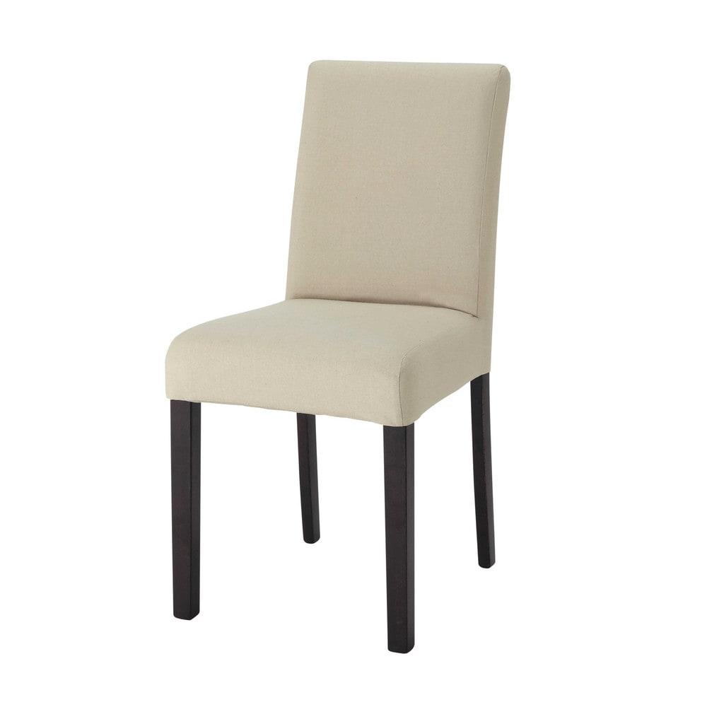 Housse de chaise en coton mastic tempo maisons du monde - Housse de chaise coton ...