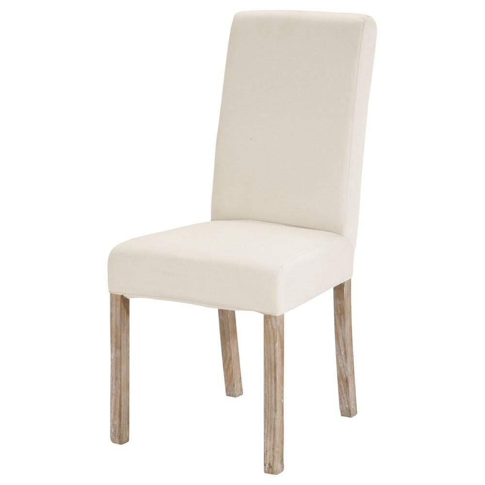 Housse de chaise ivoire margaux maisons du monde for La housse de chaise
