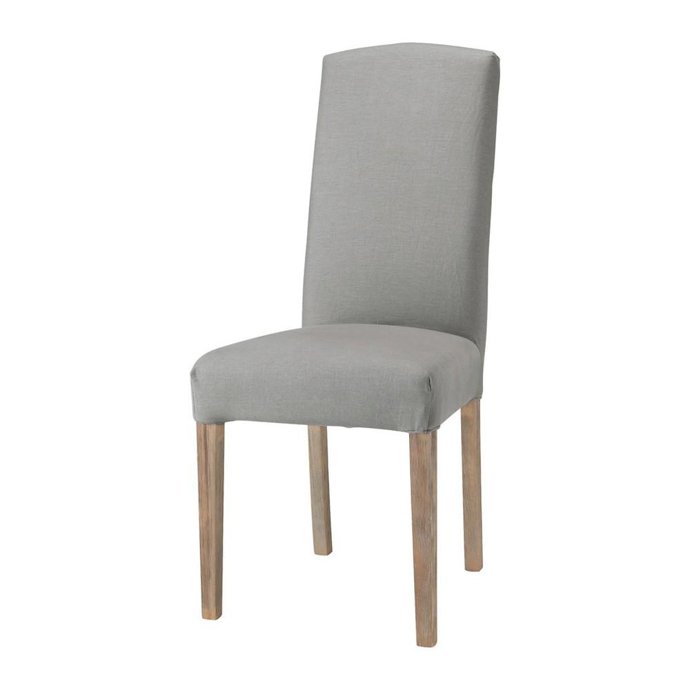 Housse de chaise grise hoze home for Housse chaise