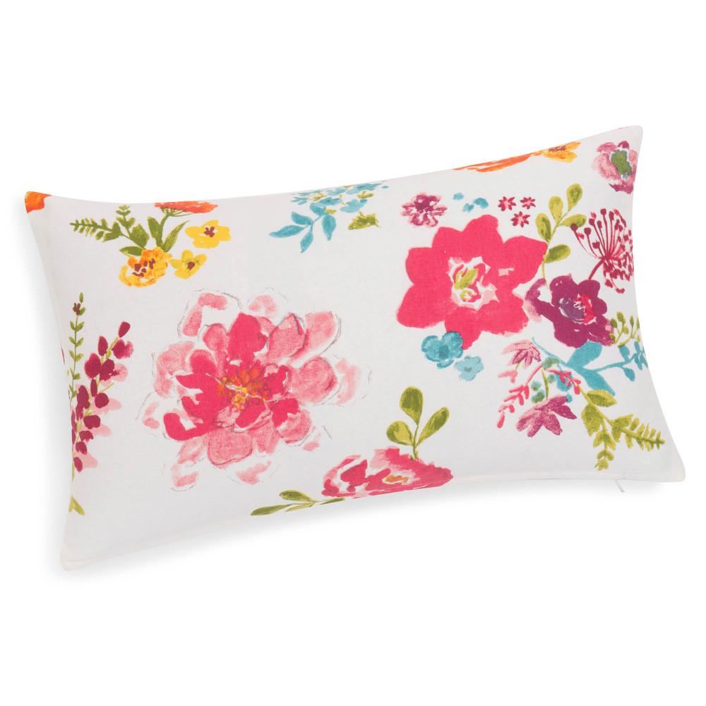 Housse de coussin fleurs en coton 30 x 50 cm helena for Housse de coussin 50 50