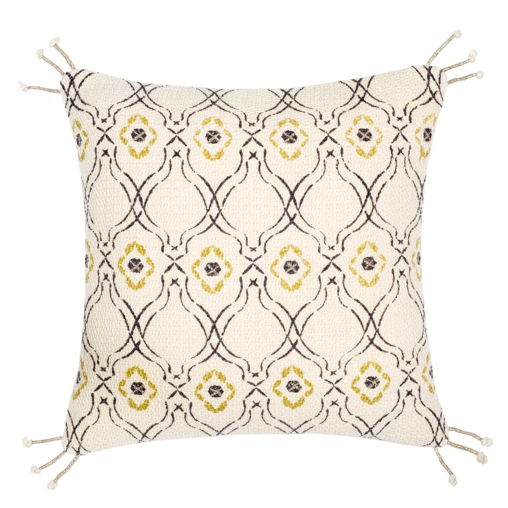 housse de coussin beige motifs 40x40 maisons du monde. Black Bedroom Furniture Sets. Home Design Ideas