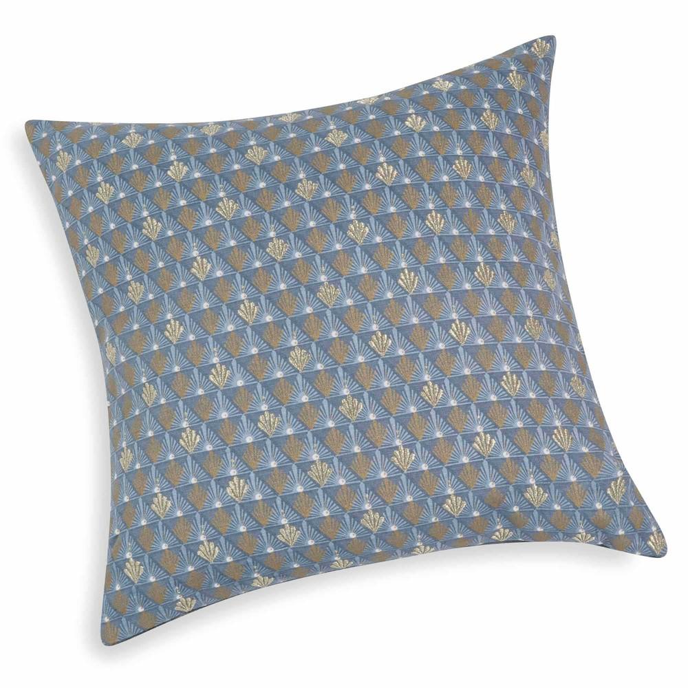 Housse de coussin bleue 40 x 40 cm tessa maisons du monde for Housse coussin 40 x 40