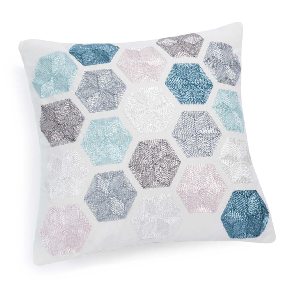 Housse de coussin en coton 40 x 40 cm hexagon maisons du for Housse coussin 40 x 40
