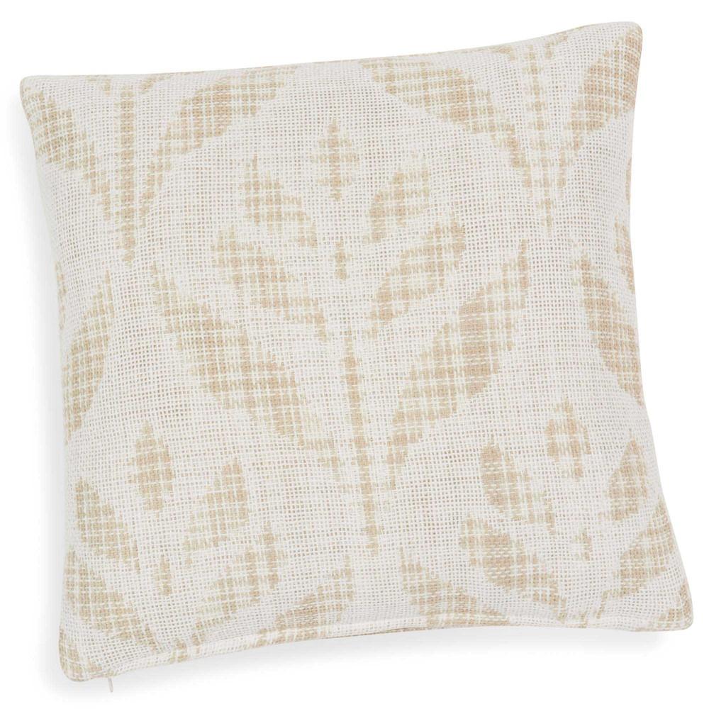 housse de coussin en coton beige 40 x 40 cm pavier maisons du monde. Black Bedroom Furniture Sets. Home Design Ideas