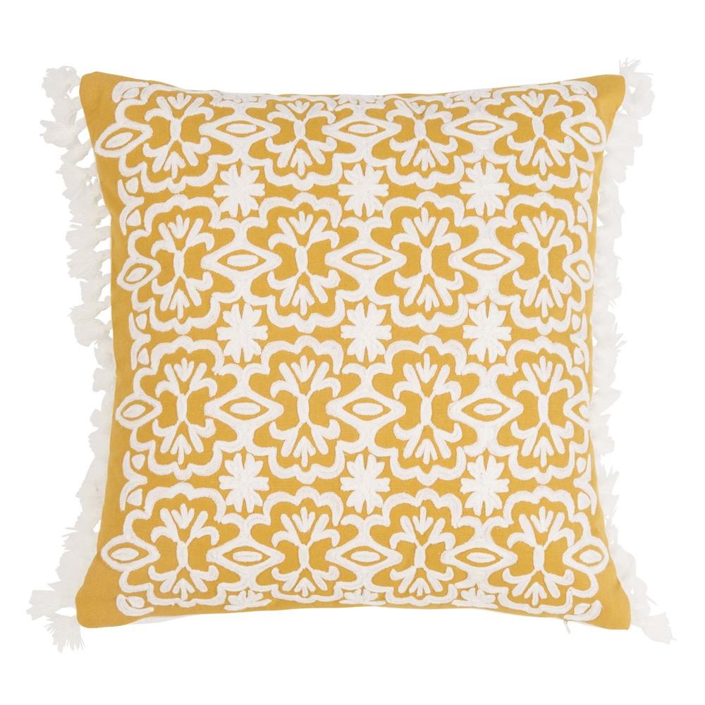 Housse de coussin 40x40 housse de coussin 40x40 motif graphique scandinave textiles et tapis - Coussin jaune maison du monde ...