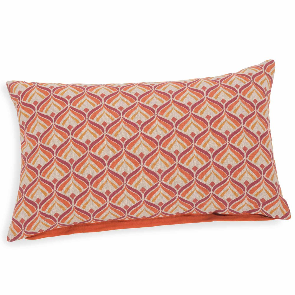 housse de coussin en coton coloris terracotta 30 x 50 cm lois maisons du monde. Black Bedroom Furniture Sets. Home Design Ideas