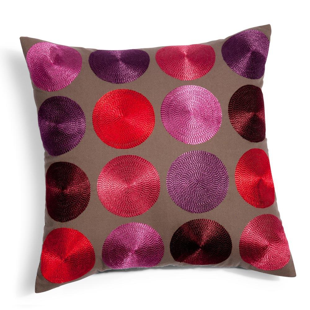housse de coussin en coton multicolore 40 x 40 cm. Black Bedroom Furniture Sets. Home Design Ideas