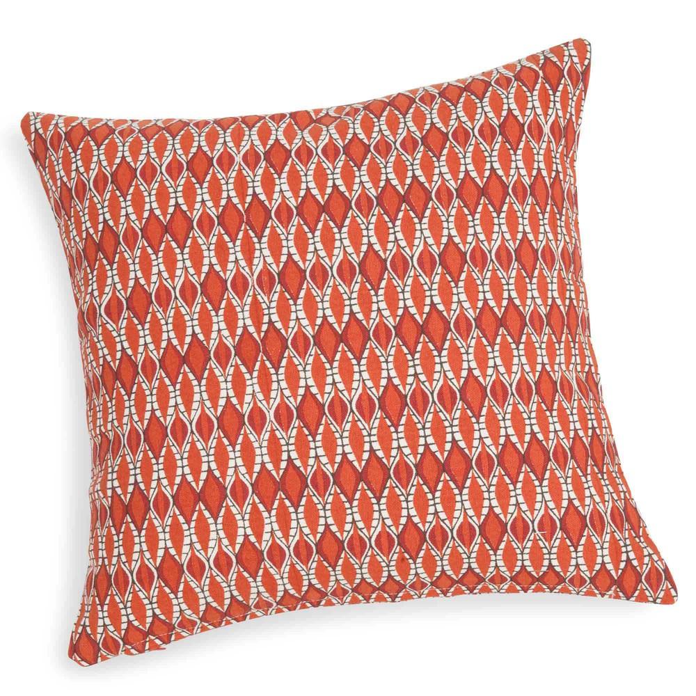 Housse de coussin en coton orange 40 x 40 cm zoque for Housse coussin 40 x 40