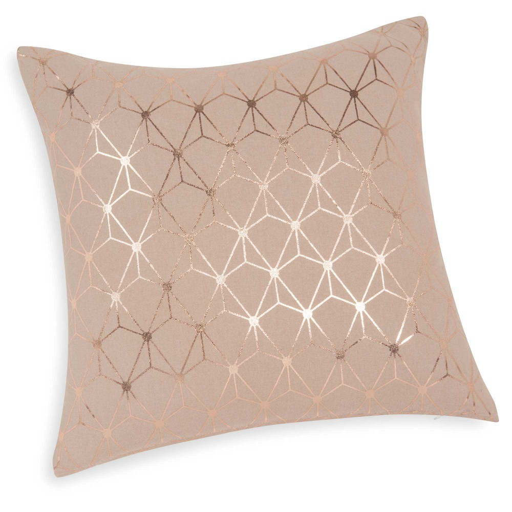 housse de coussin en coton rose 40 x 40 cm matrix maisons du monde. Black Bedroom Furniture Sets. Home Design Ideas