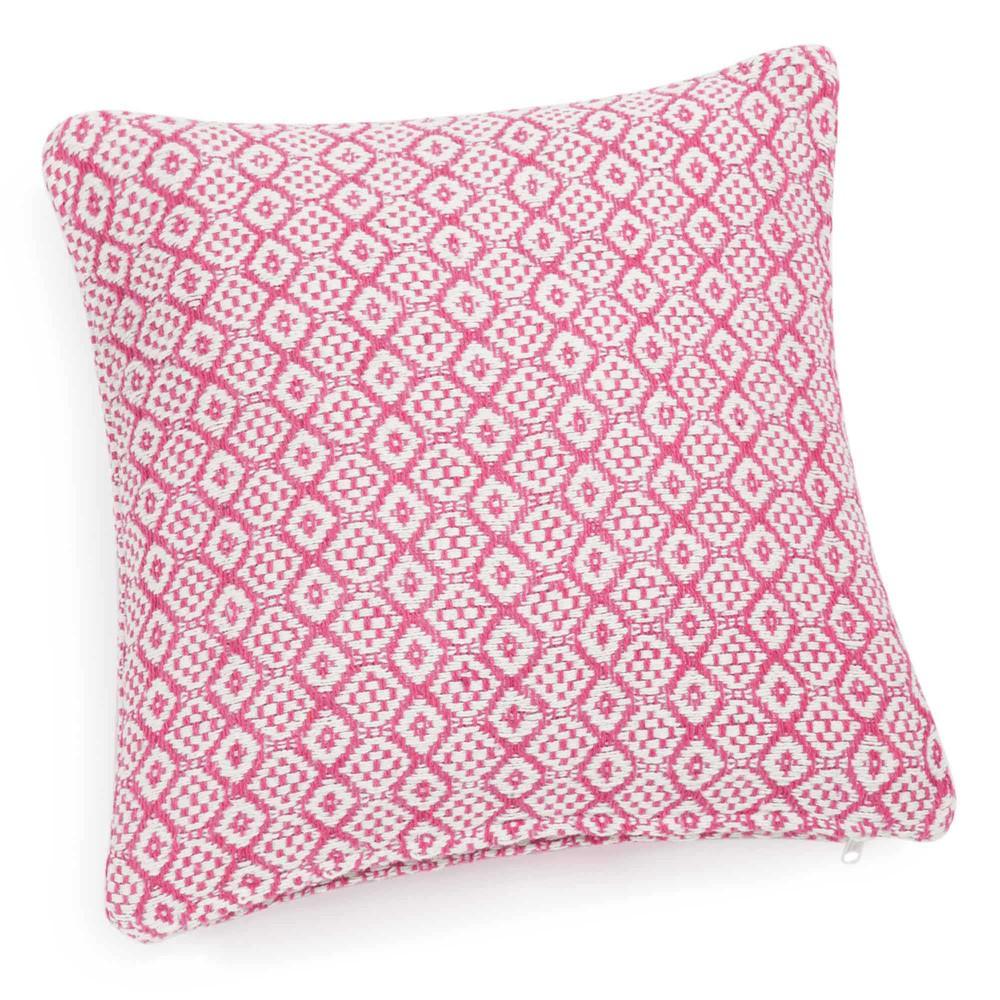 Housse de coussin en coton rouge blanche 40 x 40 cm for Housse coussin rouge