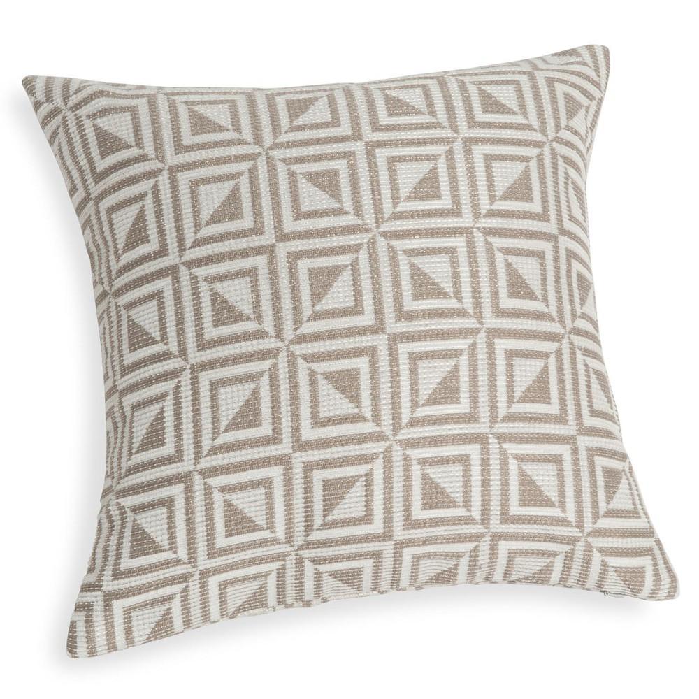 housse de coussin motifs graphiques 40x40 cm cubix maisons du monde. Black Bedroom Furniture Sets. Home Design Ideas