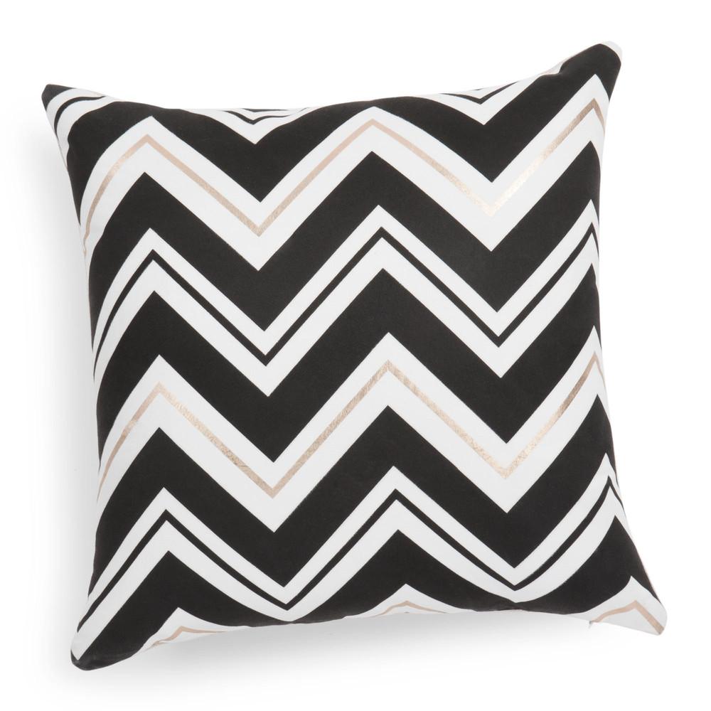 housse de coussin noire blanche 40 x 40 cm tribeca. Black Bedroom Furniture Sets. Home Design Ideas